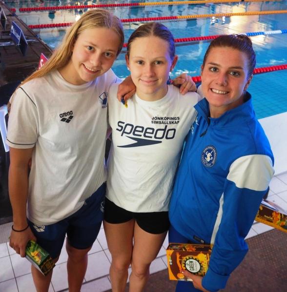 Medaljörerna på 400m fritt damer