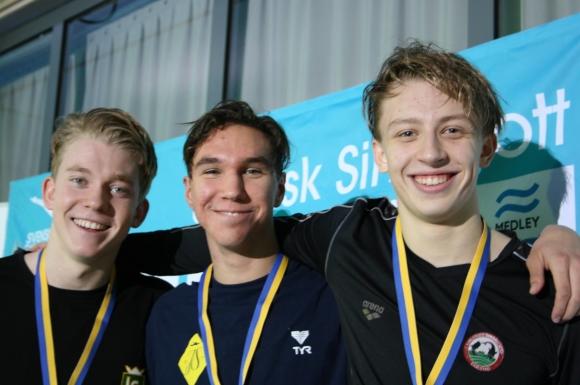 Prispallen 200m medley - Kahl-Hansson-Rydahl