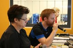Här har vi helgens speakers: Chatarina Hedin och Mikael Larsson.