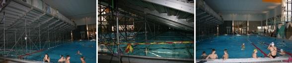 Klicka på bilden - så ser du hur Eskilstuna har byggt upp en läktare i bassängen och på så sätt skapat en 25 meters bassäng och en avsimningsbassäng bakom läktaren.