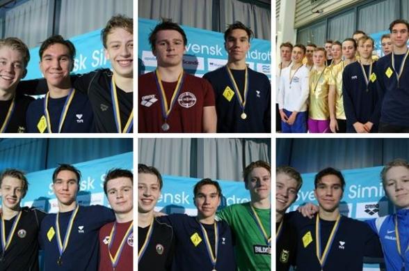 Det blir många bilder på Robin Hanson på Sum-Sim. Han inledde den sista dagen med att simma hem sitt femte Sum-Sim rekord - den här gången på 100m fritt