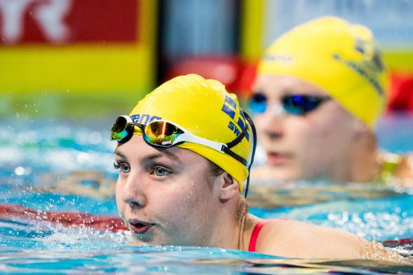Fint personligt rekord av Sara Junevik på 50m fjärilsim