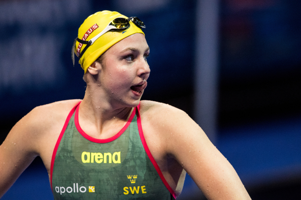 Sara Junevik - 13:e på 100m fjäril men inte vidare! Men personligt rekord blev det!!!
