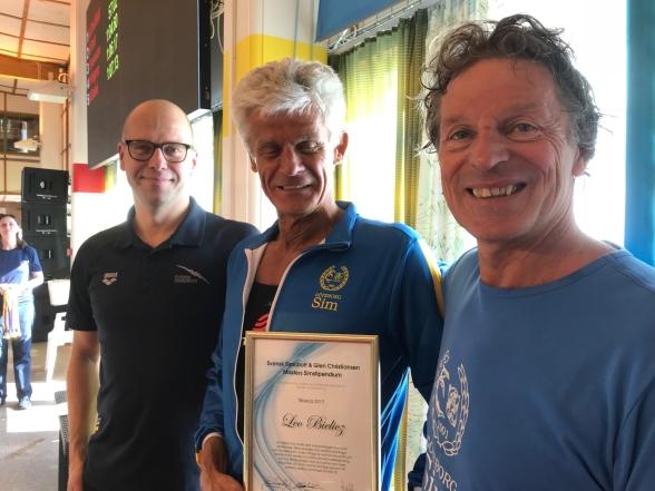 Leonard Bielicz  tog emot Svenska Simförbundets och Glen Christiansens Stipendium 2018
