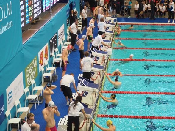 Nu är Swim Open igång. 09.30 startade försöken dag 1.