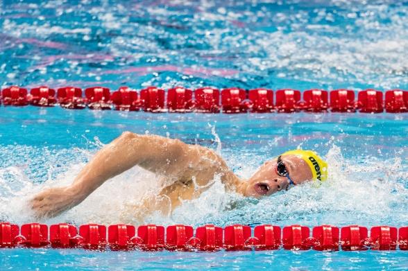 Svenskt Juniorrekord av Victor Johansson i försöken på 400m fritt herrar