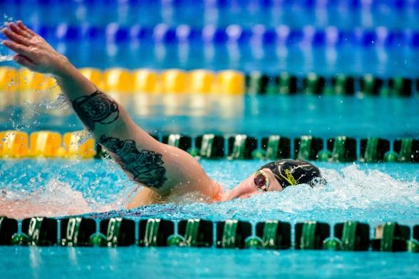 Sarah Köhgler stod för tyskt rekord och världsårsbästa på 1500m fritt i kvällens finaler på SOS på Eriksdalsbadet.