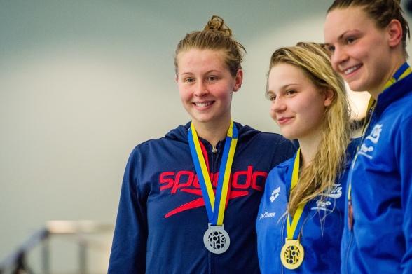 Sophie Hansson Helsingborg tvåa på 50m bröstsim