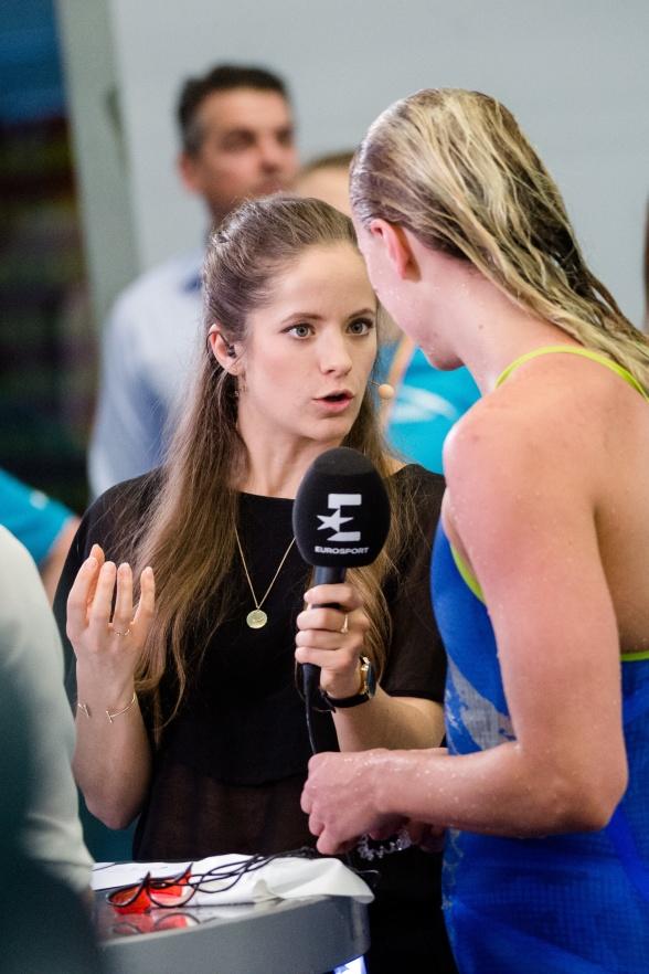 Eurosport Isabel Boltenstern sanckar med Sarah Sjöström