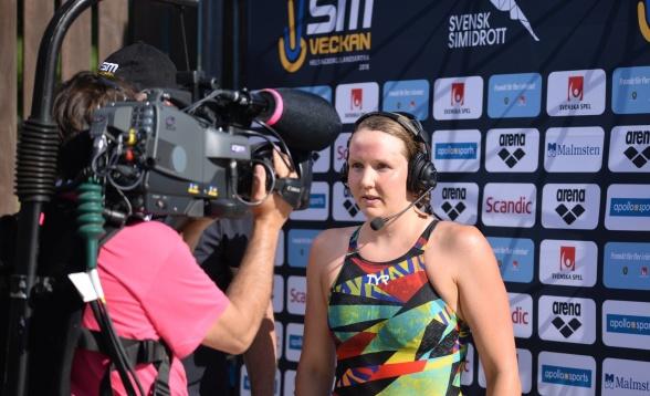 Pernilla Lindberg vinner många SM-medaljer i Landskrona - idag på 200m medley