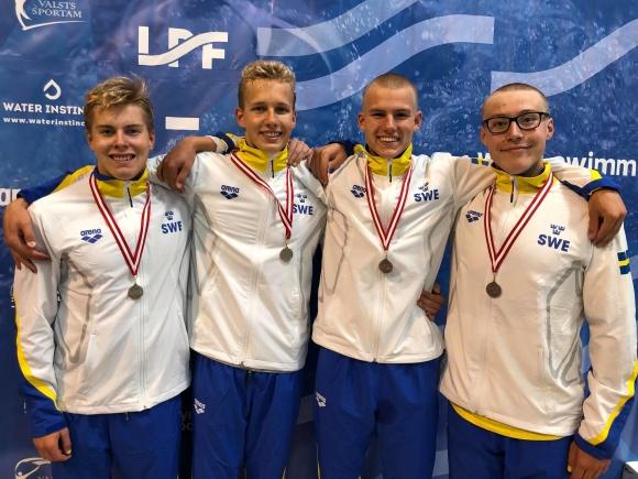 Svenska herrlaget på 4x100m medley