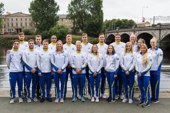 Svenska truppen i Glasgow. Klicka på bilden för att få den stor!