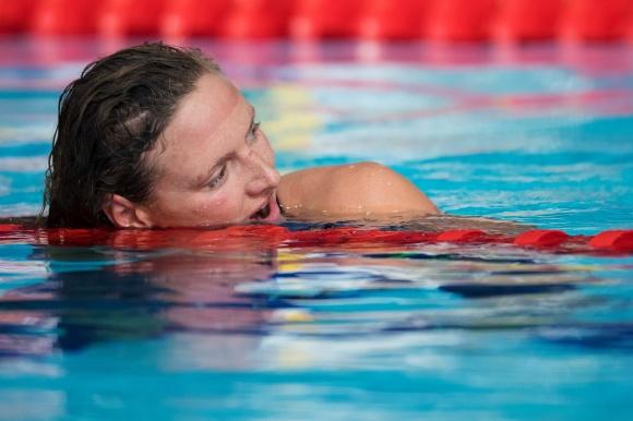 Trött Katinka Hosszu efter finalen på 200m medley