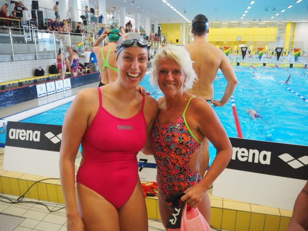 Agnes Larsson SS04 och Caroline Lindborg MKK - tvås skånskor på Masters-NM