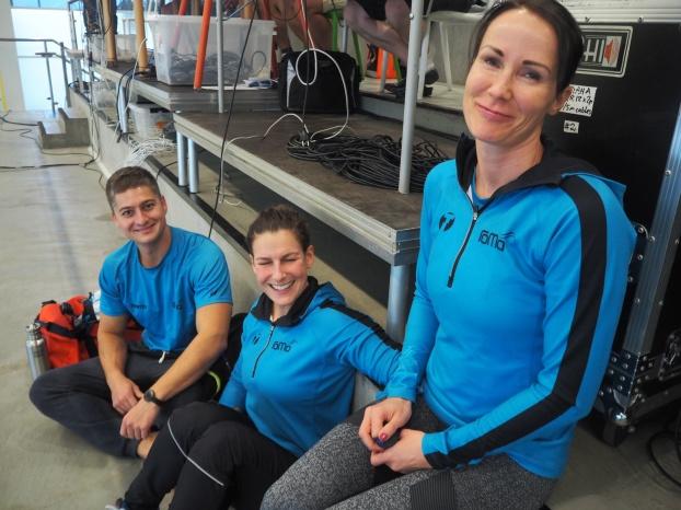 Tre simmare från norska ROMA.