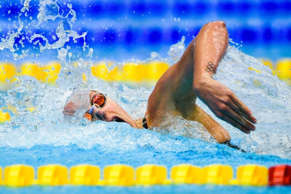 Sin nästa bästa tid någonsin - Michelle Coleman SM-guld på 100m fritt