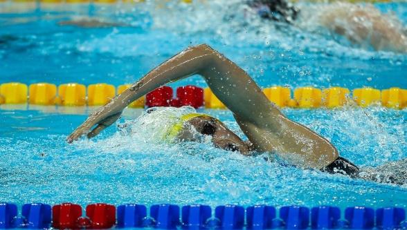 Michelle Coleman simmade riktigt bra på 200m fritt i afton.