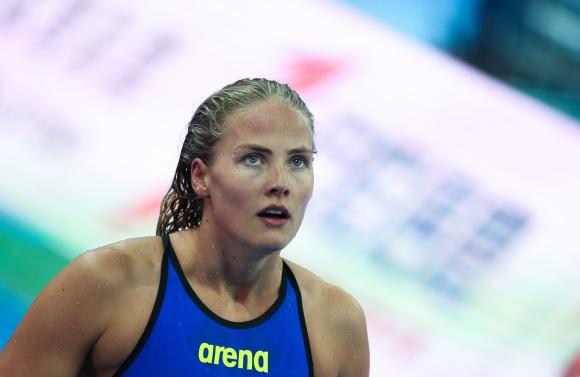 MIchelle Coleman cvidare till final på 100m fritt som trea