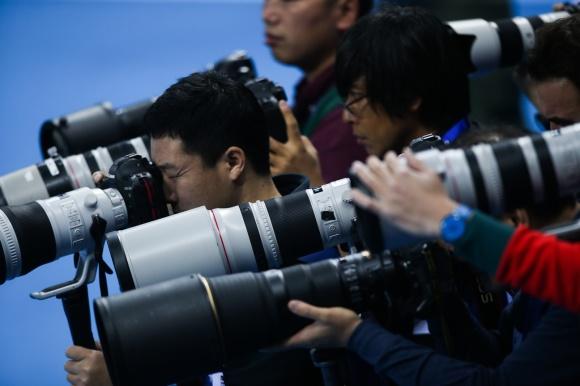 Fotografer i arenan