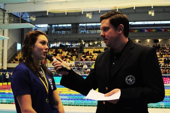 Rönningdahl intervjuvas efter Sum-Sim rekordet