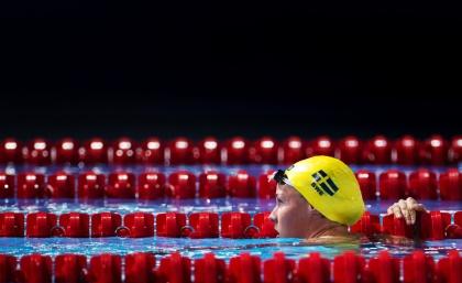 Michelle Coleman från Täby Sim - simmade VM-final i lagkapp 2013