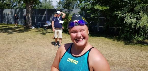 Sabina Alman vann dagens jämnaste lopp - 400m fritt damer