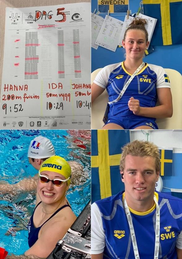 Tre simmare till start i dagens försökstävlingar
