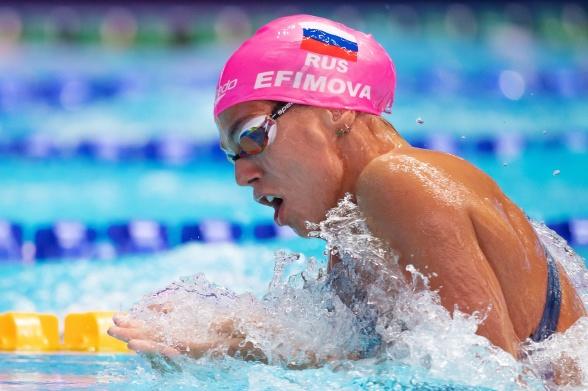 Julia Efimova snabbast i semin på 100m bröstsim damer