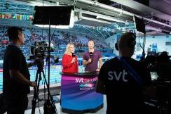 SvT:s Maria Wallberg och Lars Frölander