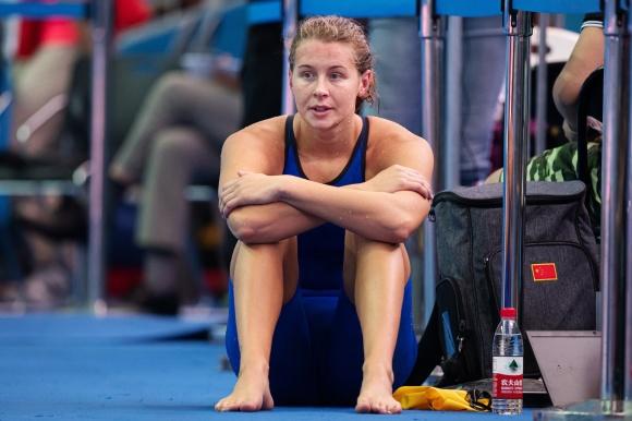 Sophie Hansson en bra cit över sittt personliga rekord på 200m bröstsim