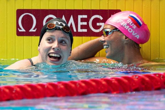 Lilly King och Julia Efimova