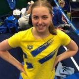 Edith Jernstedt EM-debuterade med personligt rekord på 50m fjärilsim
