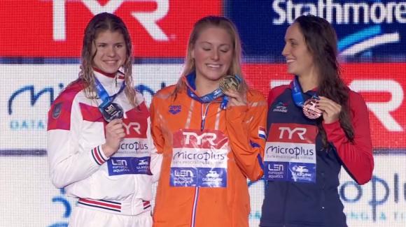 Mesta tårarna kom på prispallen hos Kira Toussiant - under dagens tävlingar.
