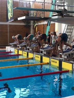 Täby: Start 100m fritt damer