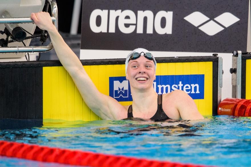 Louise Hansson simmade in på världens nästa bästa tid under 2021 på 100m fjärilsim