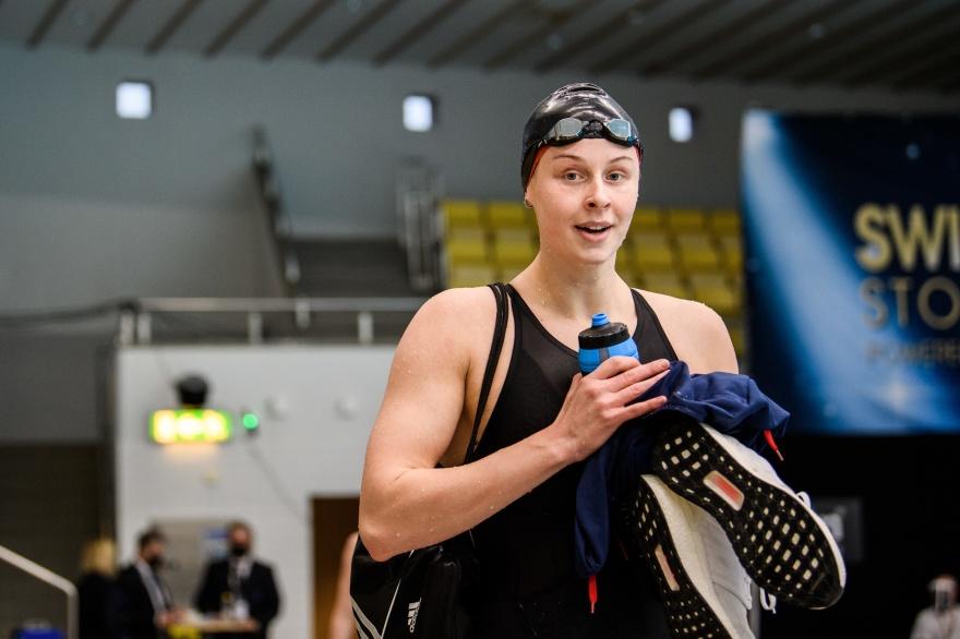 Sophie Hansson simmade en strartsträcka i lagkappen på 4x100m fritt