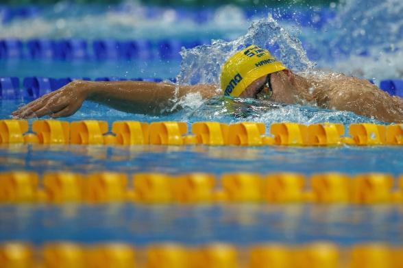 Robin Hanson simmade på pers på startsträckan idag!