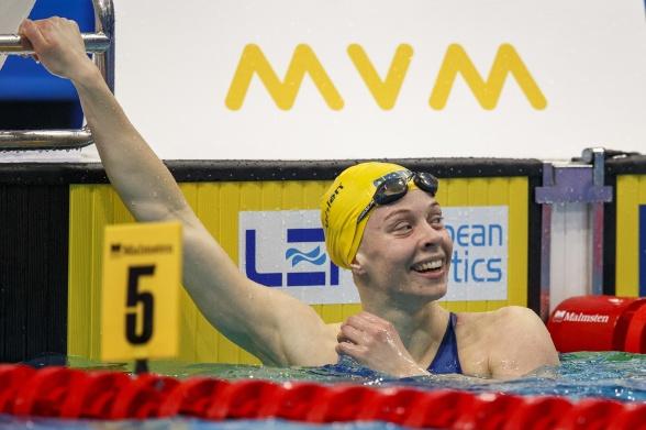 Tangerat personligt rekord av Louise Hansson i semifinalen som hon vann!