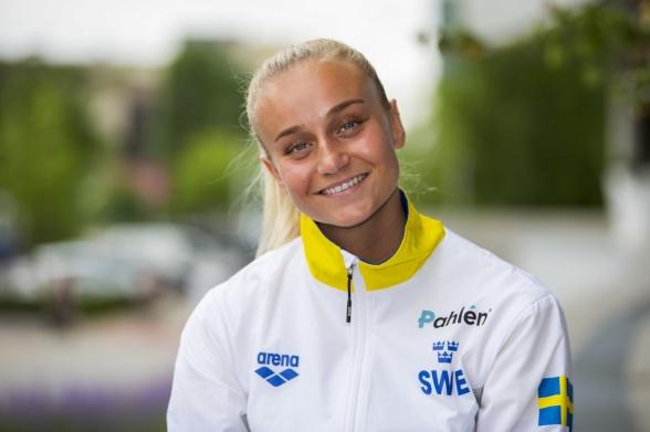 Hanna Rosvall snabbast av svenskorna på 50m ryggsim