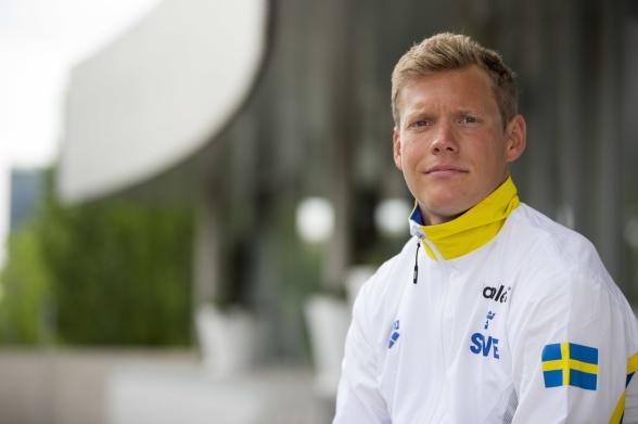 Gårdagens 200m bröstsim blev till försök på 200m fritt för Adam Paulsson