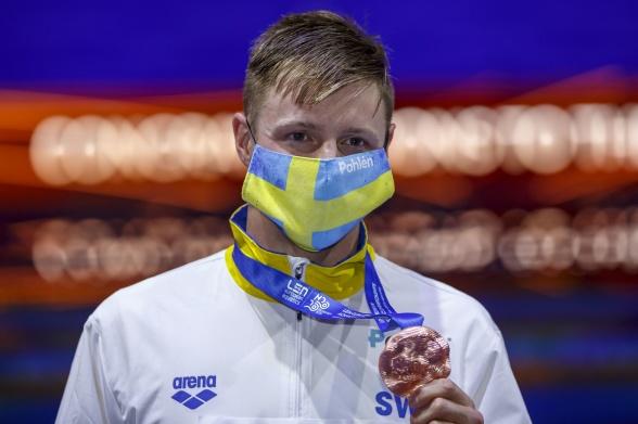 Brons medaljen till Erik Persson på 200m bröstsim