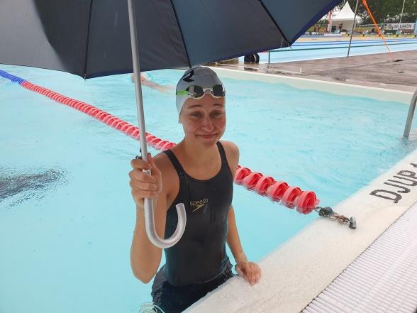 Lucie Hanquet vann 800m fritt