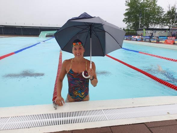 Madalena Kuras rutinerad simmerska som simmar i Halmstad