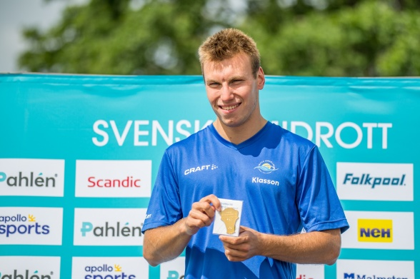 Tobias  Klasson Säffle vann Para-klassen 400m fritt