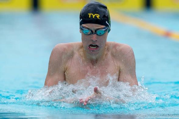 Daniel Räisänen vann 50m  bröstsim