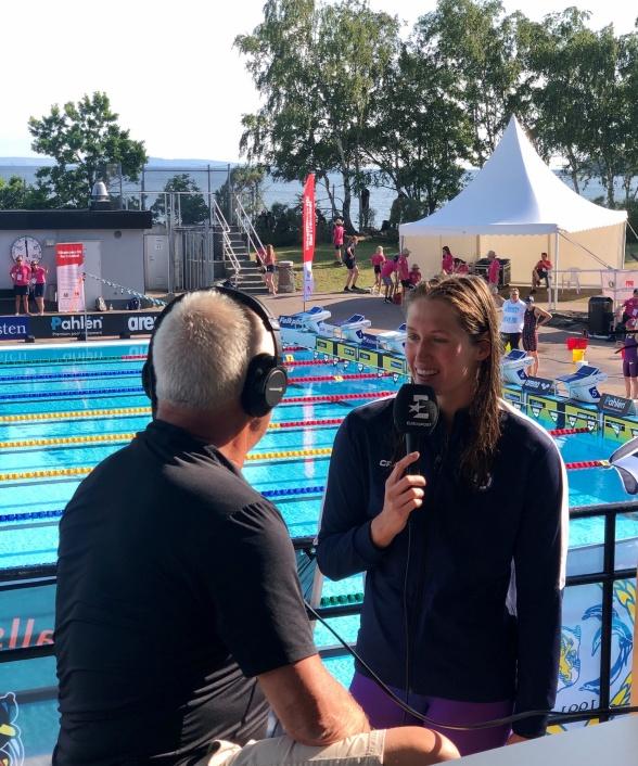 Ida Liljeqvist snackar med webTV efter segern under lördagen.