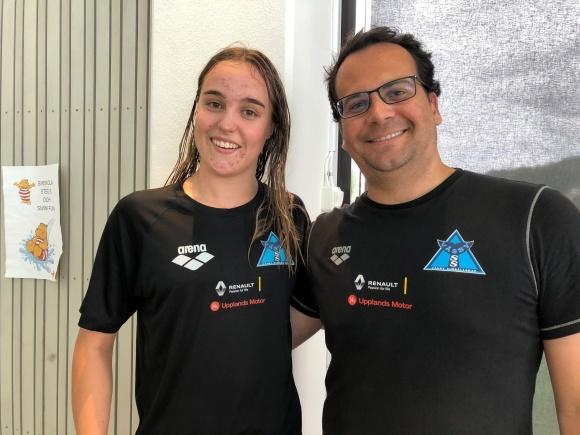 Maxine Egner och Coach Marcelo  från Väsby