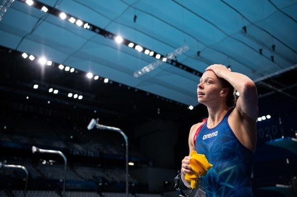 klicka bilden så blir den stor - Louise HAnsson till OS-final på 100m fjärilsim