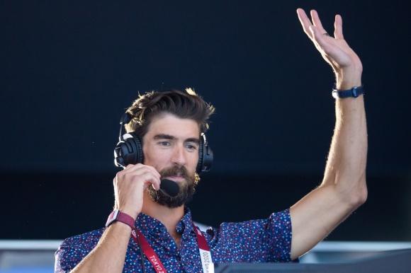 klicka bilden så blir den stor - Mike Phelps kommenterar simning för USA