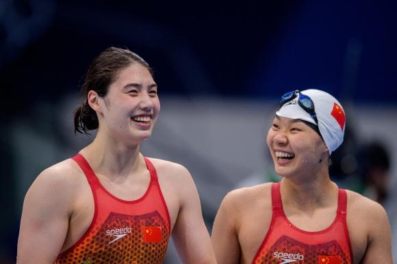 Kinesisk seger av Yufei Zhang på 200m fjärilsim